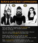 B'n'W Bust Commissions! by Varjopihlaja