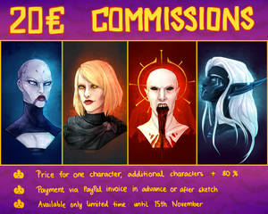 COMMISSION INFO: Limited time watercolor headshots