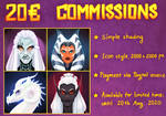 COMMISSION INFO: Limited time avatars by Varjopihlaja