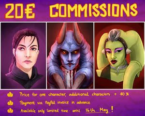 Limited COMMISSIONS: Headshots, open until 16.5!