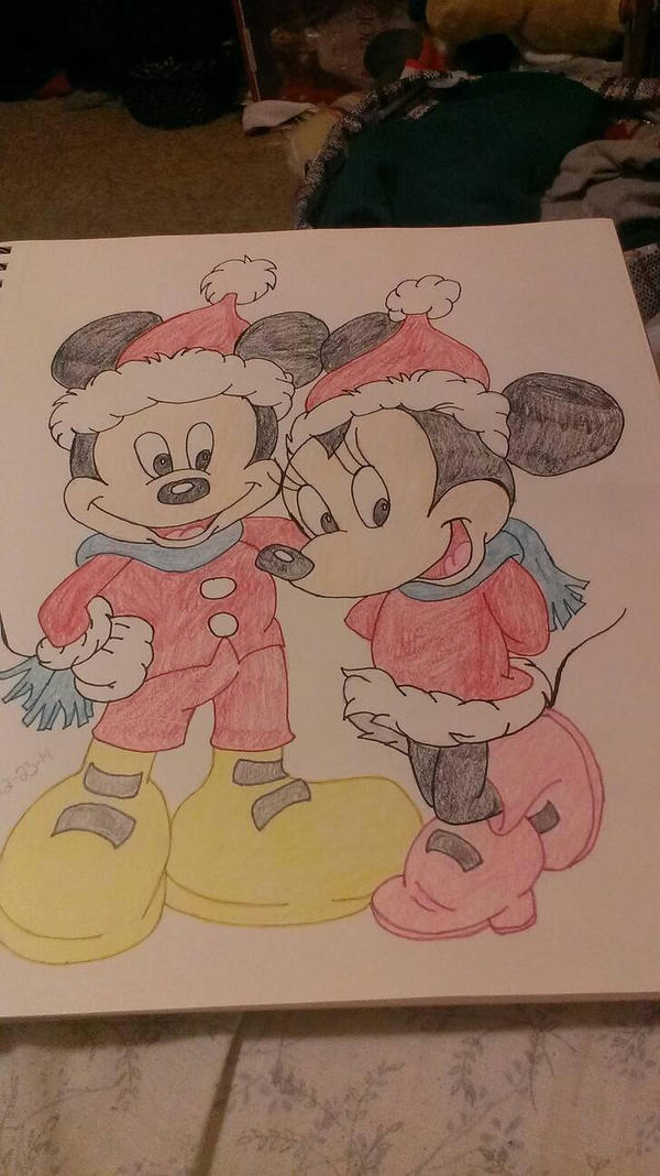Mickey and Minnie mouse by loveoutloud4