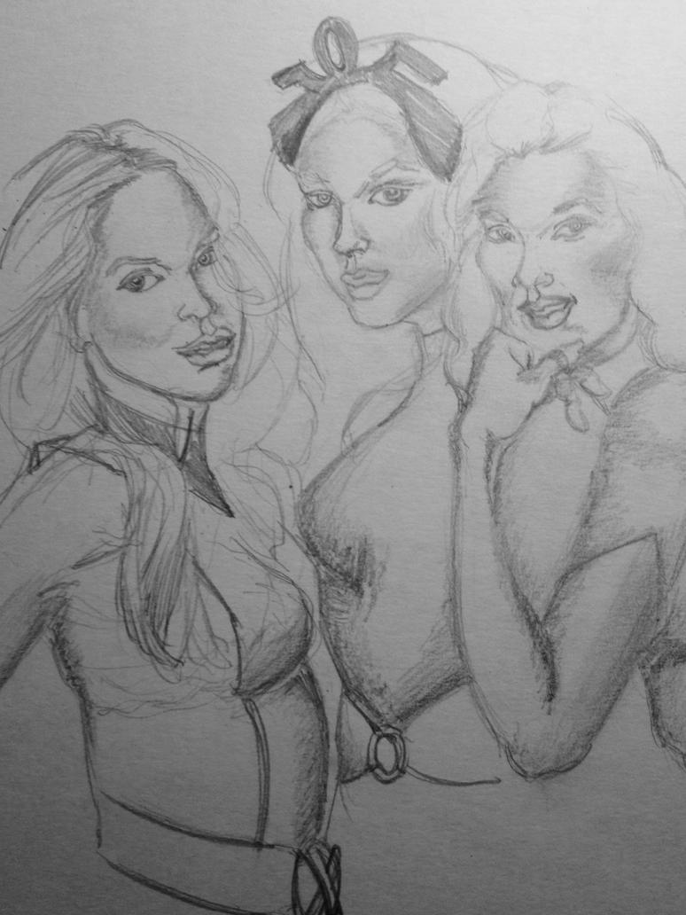 X-women Scribble by originalceenote