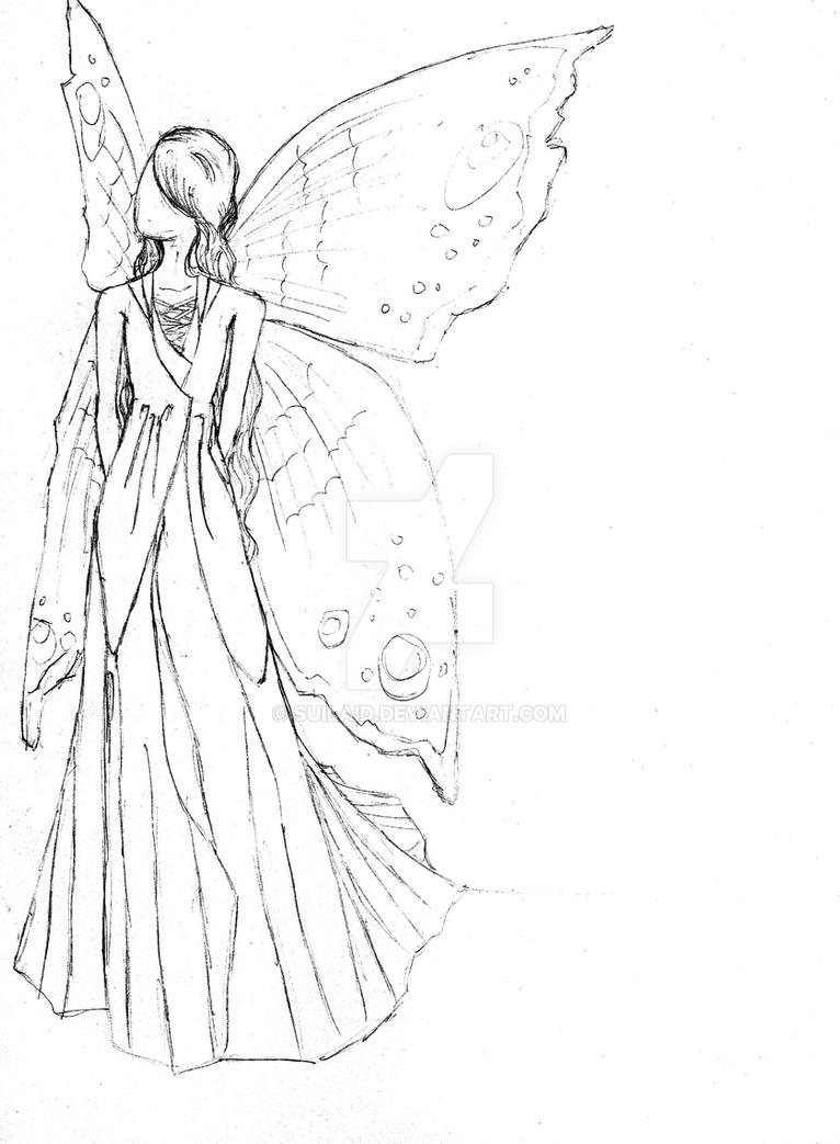 Fairy Dress Sketch 192236005 on person sleeping in bed drawing
