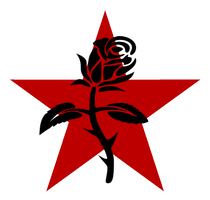 Black Rose and Red star by The-Laughing-Rabbit