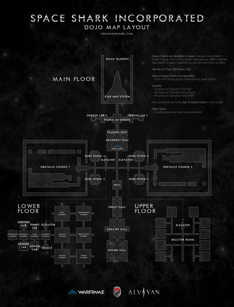 Space Shark Inc. Dojo Layout by deviantalviyan