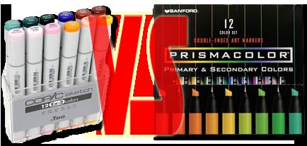 Prismacolor vs Copic by hydestock