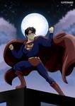 Superman at night