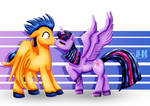 Flash Sentry and Twilight Sparkle_The Kiss
