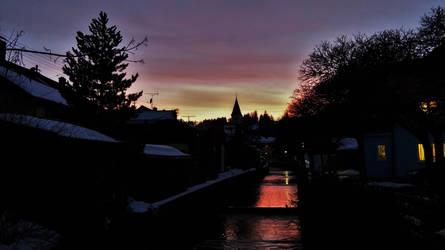 sunset view by DancingAlienPro