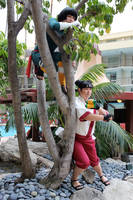 Tenten and Lee in a tree