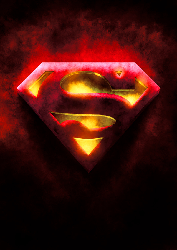 Red And Yellow Superman Symbol By Reluos