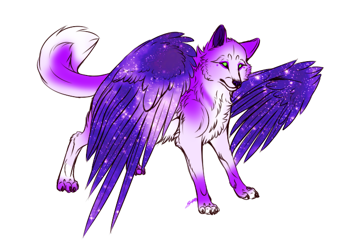 Winged wolf adoptable 3 OPEN by Padded-Paws on DeviantArt