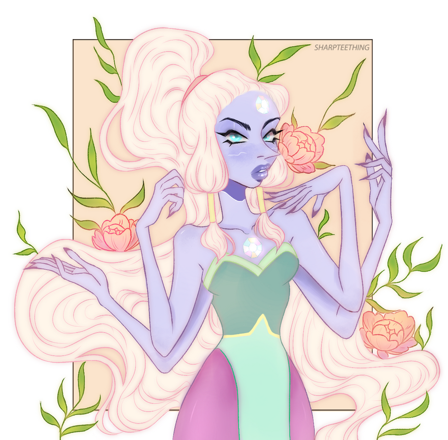 a redraw of my first opal drawing Commissions me! Buy me a coffee!