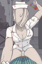 Bubble Head Nurse by 0VirtualParticle0