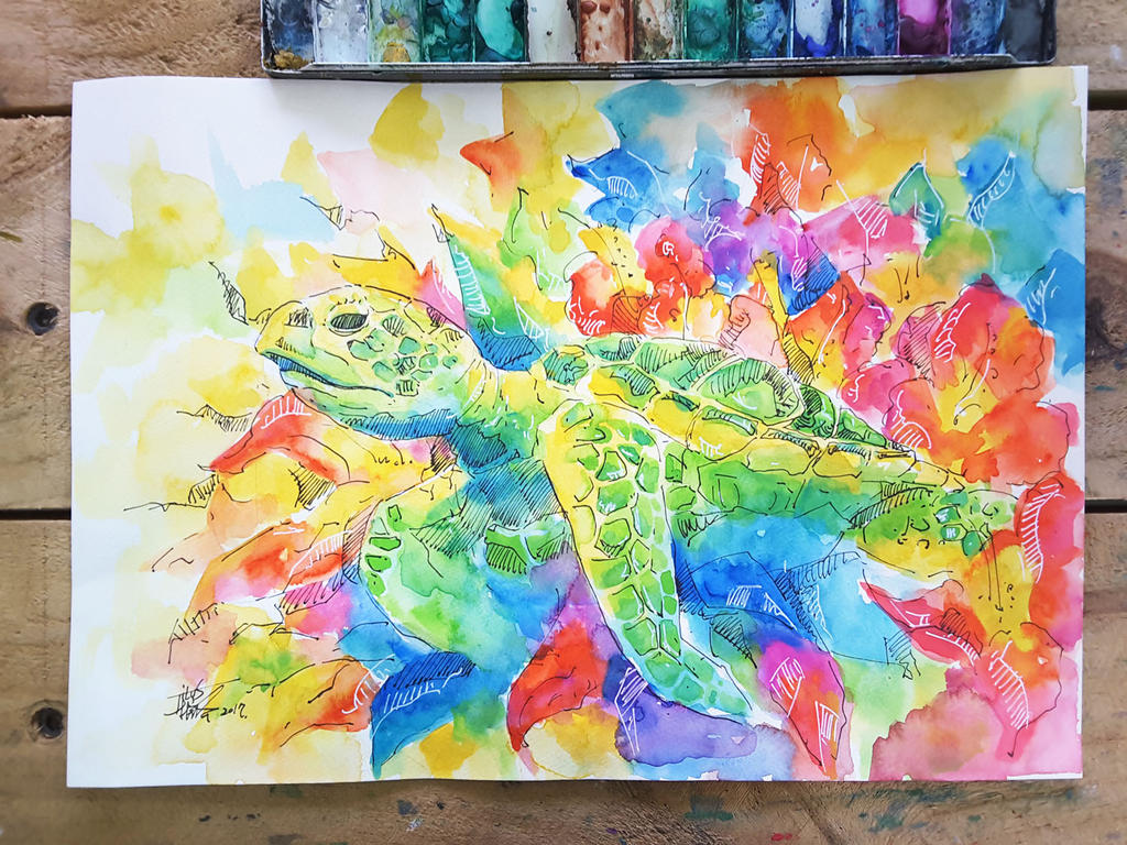 sea turtle by TingChieh