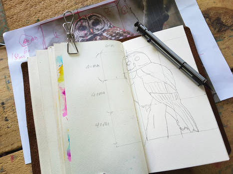 9 squares drawing