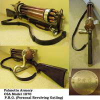 Steampunk Gatling Gun by Challenger70TA