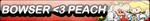 Bowser Love Peach fan button by sinh95