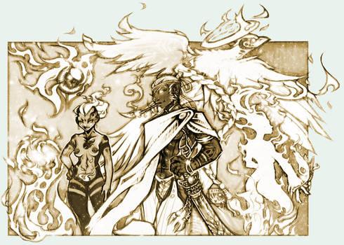 Gods + Elementals: Fire group