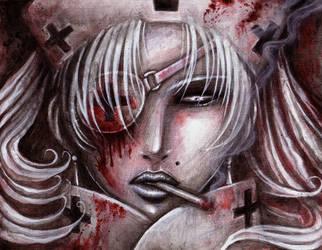 + black cross nurse by kiyo