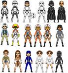 The Girls Of Star Wars