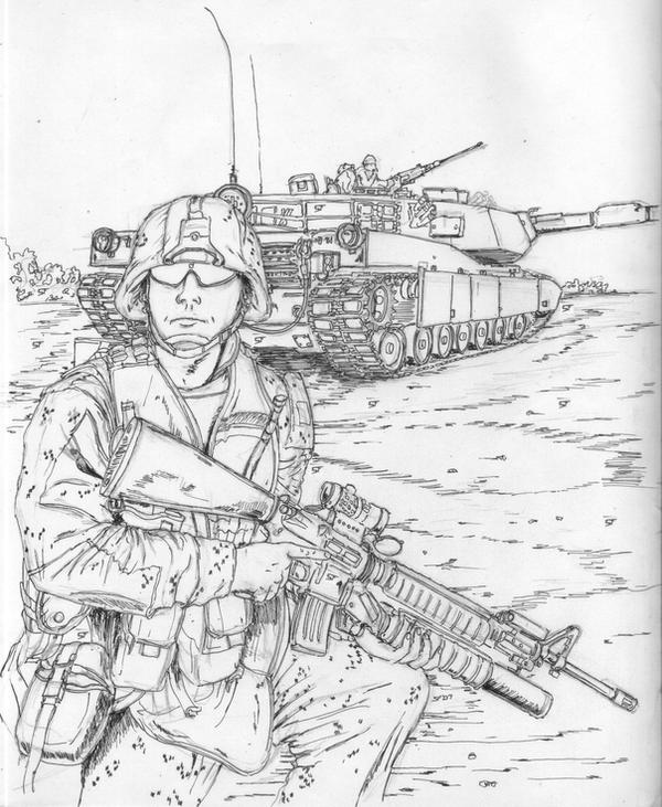 military coloring pages iraq | Marines in Iraq 12 by BROKENHILL on DeviantArt