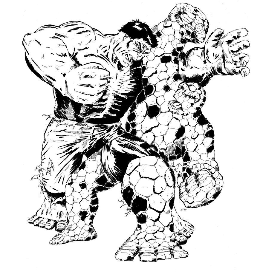 hulk vs superman coloring pages - photo#21