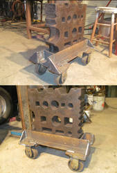 Heavy Duty Roller Stand for my 300lb  Swage Block