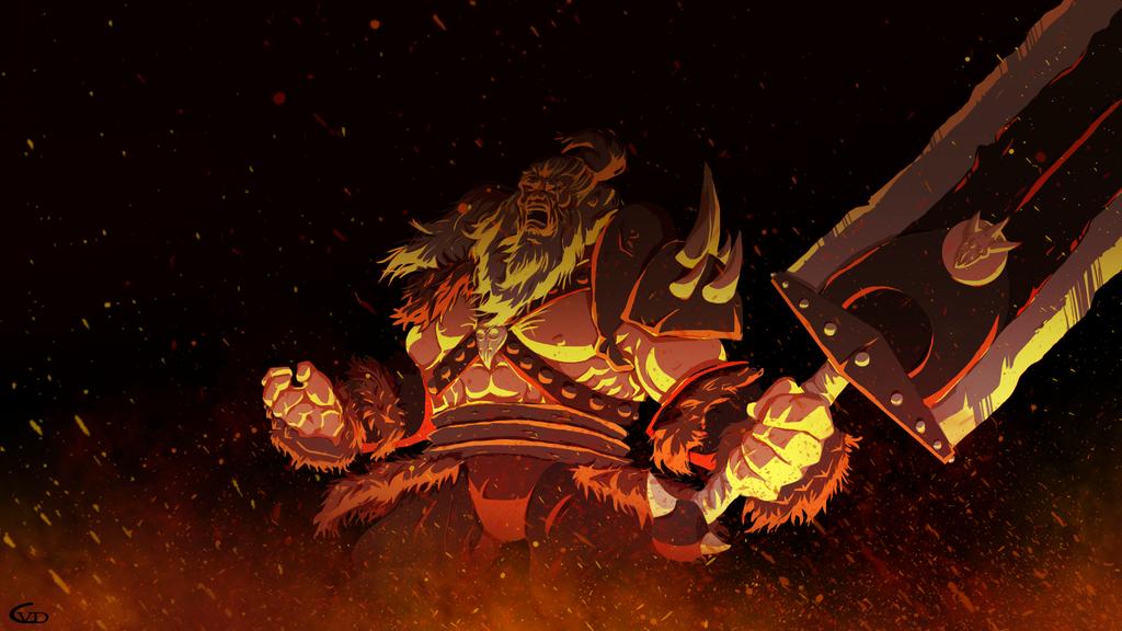 Airon on fire by CarminiaVonDorian