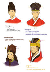 Joseon Men's Hats 6 by Glimja