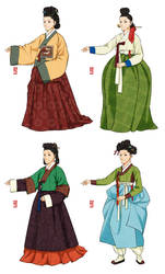 Joseon Dynasty Ladies by Glimja
