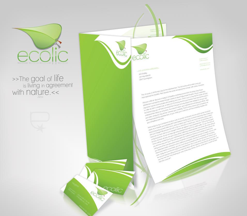 ecolic corporate identity by pasarelli