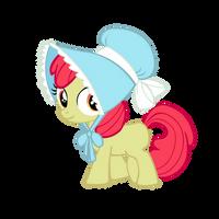 Apple Bloom wearing her Bonnet by star-burn