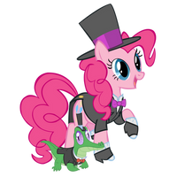 Pinkie and Gummy in their Tuxedos by star-burn
