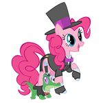 Pinkie and Gummy in their Tuxedos