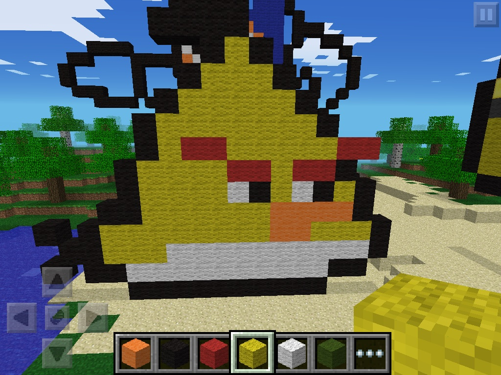 Yellow Angry Bird Pixel Art By Naron1520 On Deviantart