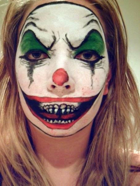 evil clown makeup. Evil Clown Makeup by Simple Clown Makeup Men