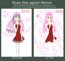Draw This Again Meme - Sakura Girl