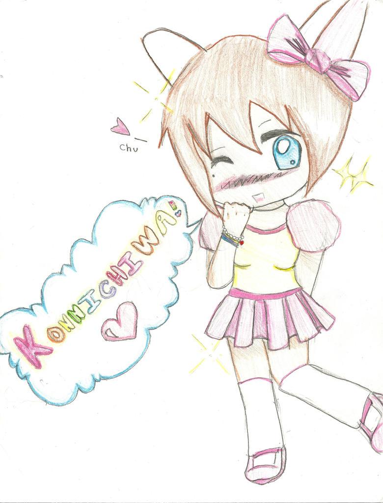 how to draw kawaii girl