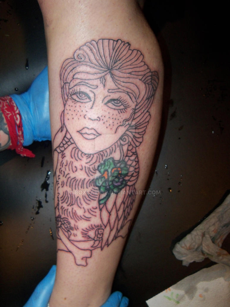 Owl sister tattoo line work by boxcar999 on deviantart for Tattoo line work
