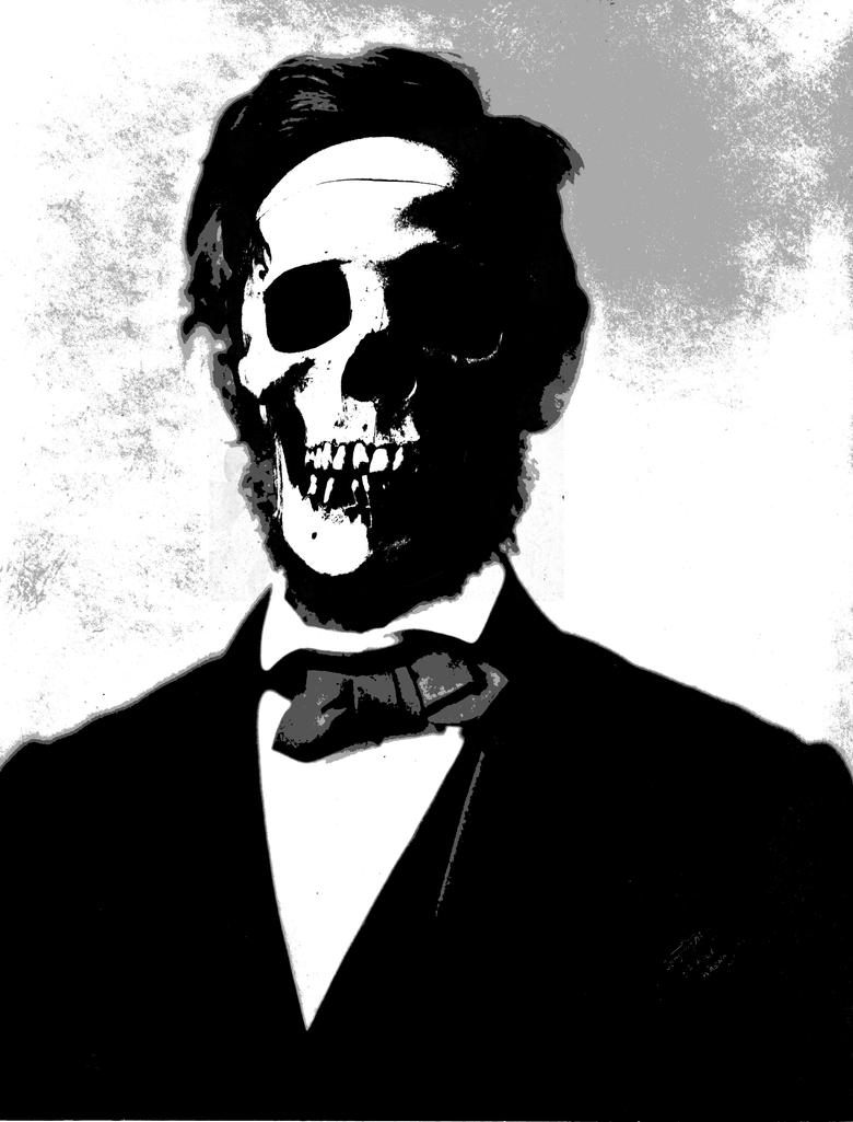 Abe Lincoln Skull Stencil by bookabooka