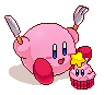 [Pixel] Kirby's cupcake by Dareline