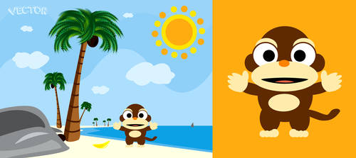 Monkey at a beach?!