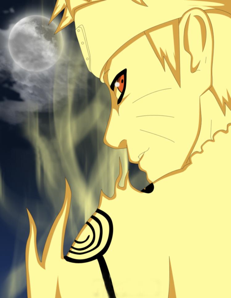 Naruto Sennin mode kyuubi by Wagnerstyr