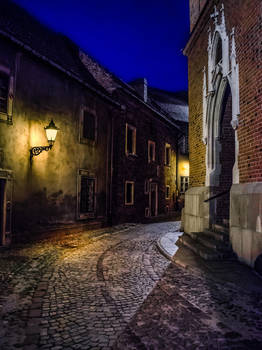 The Old Town At Night By Marrciano Dbfbu95a