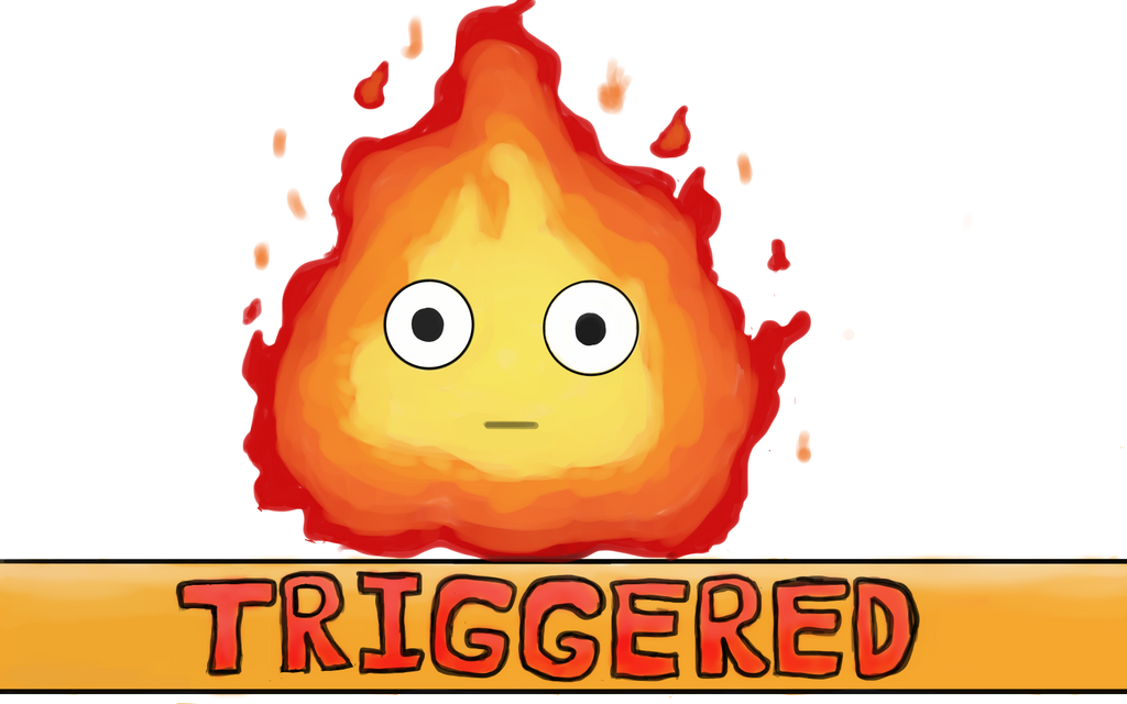 Triggered Calcifer ^-^ by Jadedapril