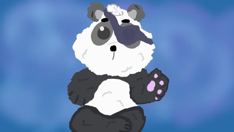 Fluffy Panda  by Jadedapril