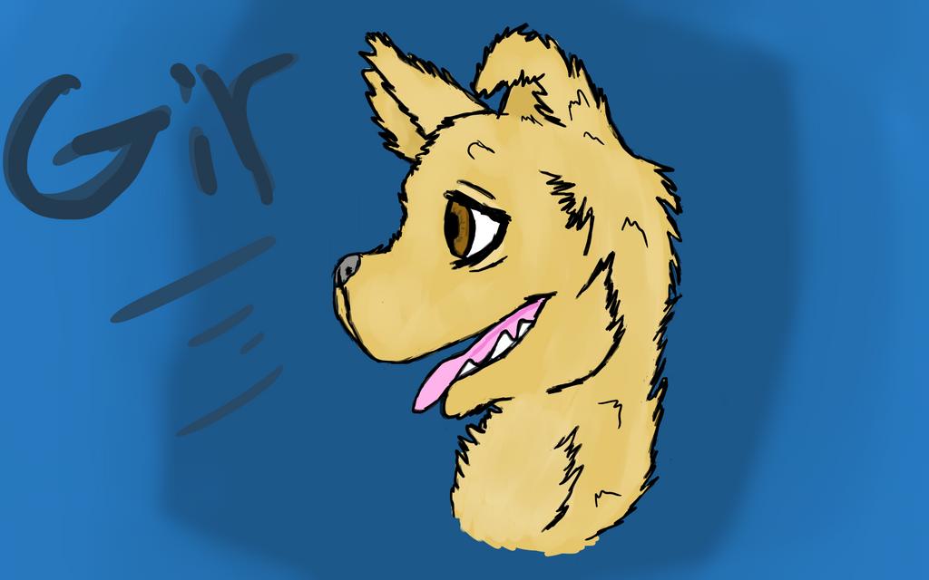 My other dog Gir by Jadedapril