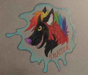 Splatter Badge