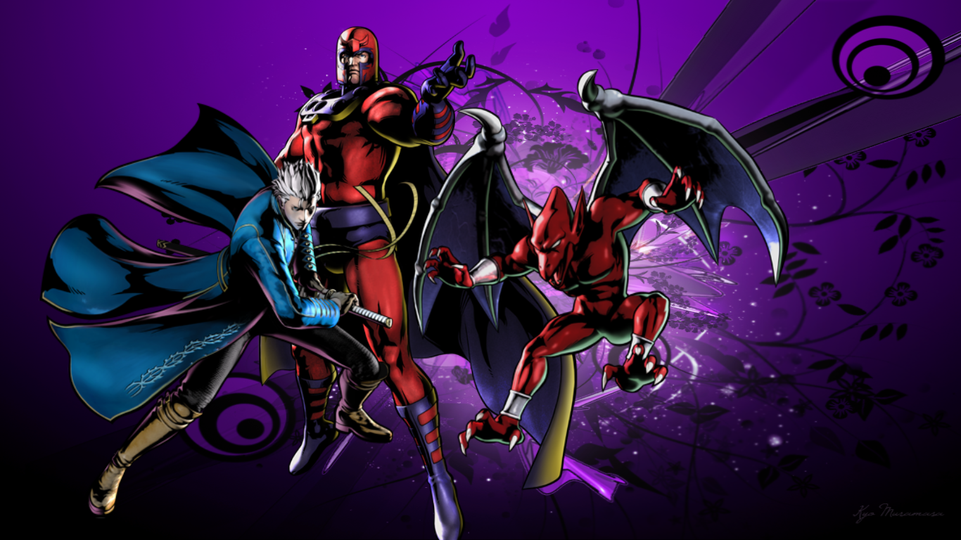 umvc3 team wallpapers vergil magneto firebrand by bxb